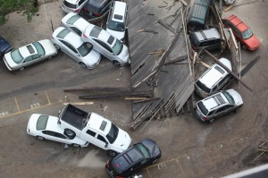 Cars totaled by Sandy