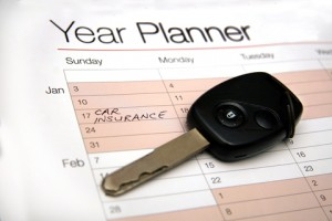 Calendar with car insurance planner