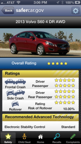 SaferCar screenshot