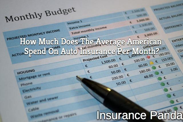 average American auto insurance expenditure