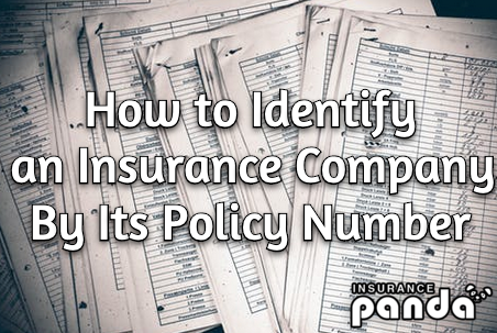 identify car insurance company by policy number