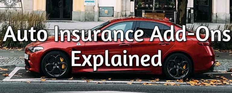 auto insurance add-ons
