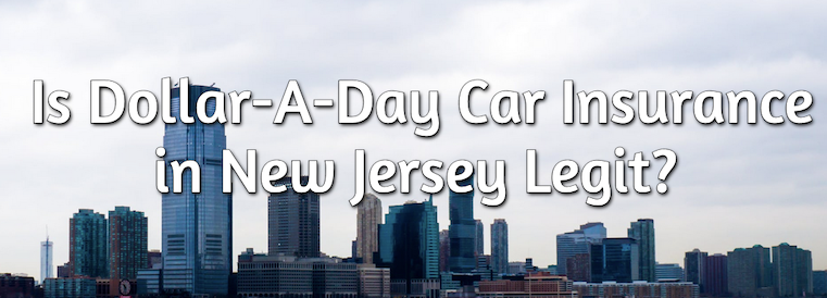 NJ dollar a day car insurance