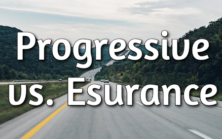 progressive vs. esurance car insurance
