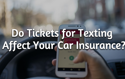 texting while driving insurance rates