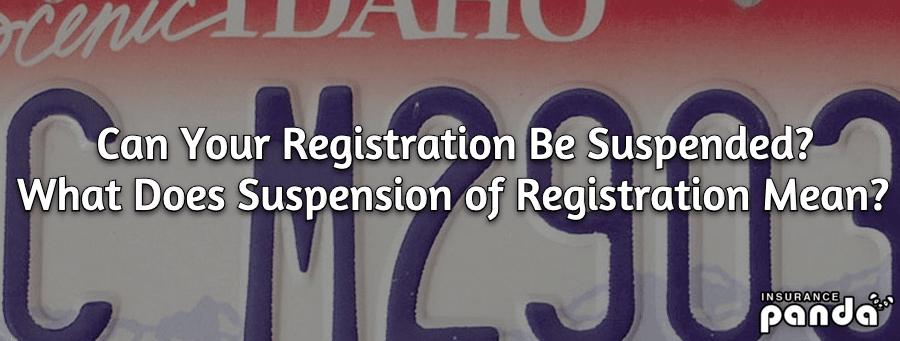 registration suspension