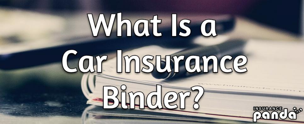 car insurance binder